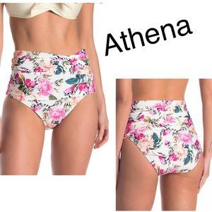 Athena High Waist Bikini Bottoms Floral